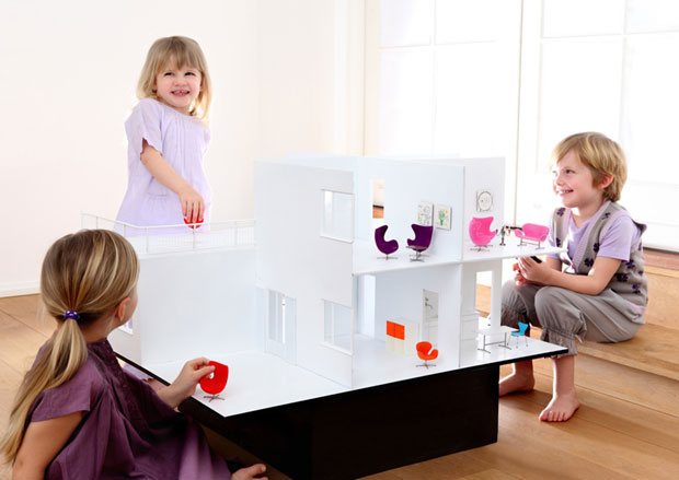An Arne Jacobsen inspired doll's house for the seriously design conscious child