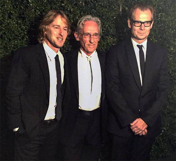 Owen Wilson, Ed Ruscha and MOCA Director Philippe Vergne. Image courtesy of Third Eye agency's Instagram