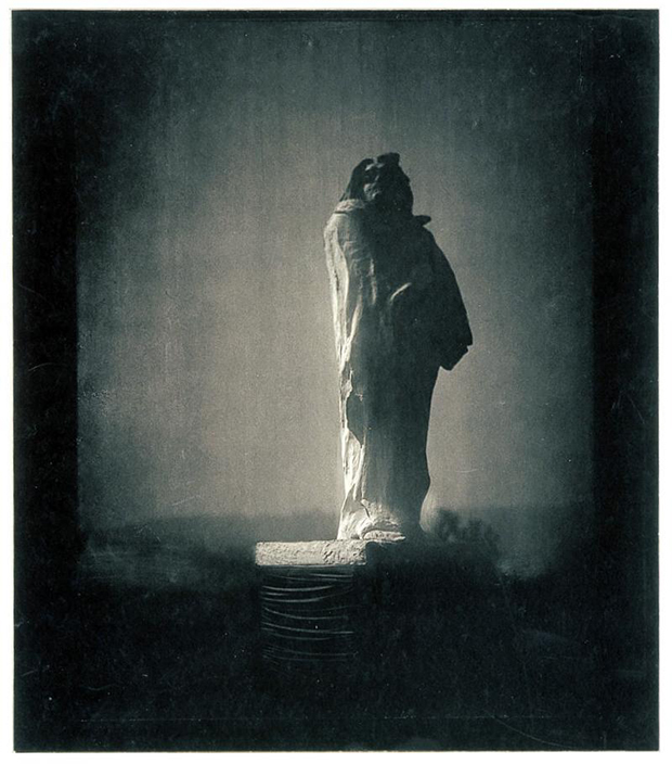 Edward Steichen, Balzac: the Silhouette: 4AM, 1980. From our Auguste Rodin monograph