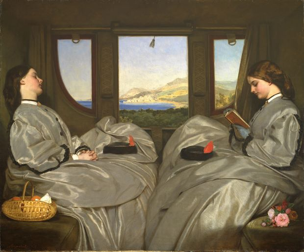 The Travelling Companions (1862) by Augustus Leopold Egg, courtesy of the Birmingham Museum & Art Gallery/Art Everywhere
