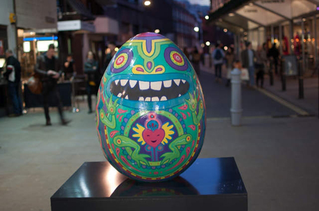 Gary Card, Sad Happy Frog Egg, Broadwick Street, part of the The Fabergé Big Egg Hunt