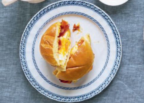 Bacon, egg, and cheese sandwich, from Breakfast: The Cookbook