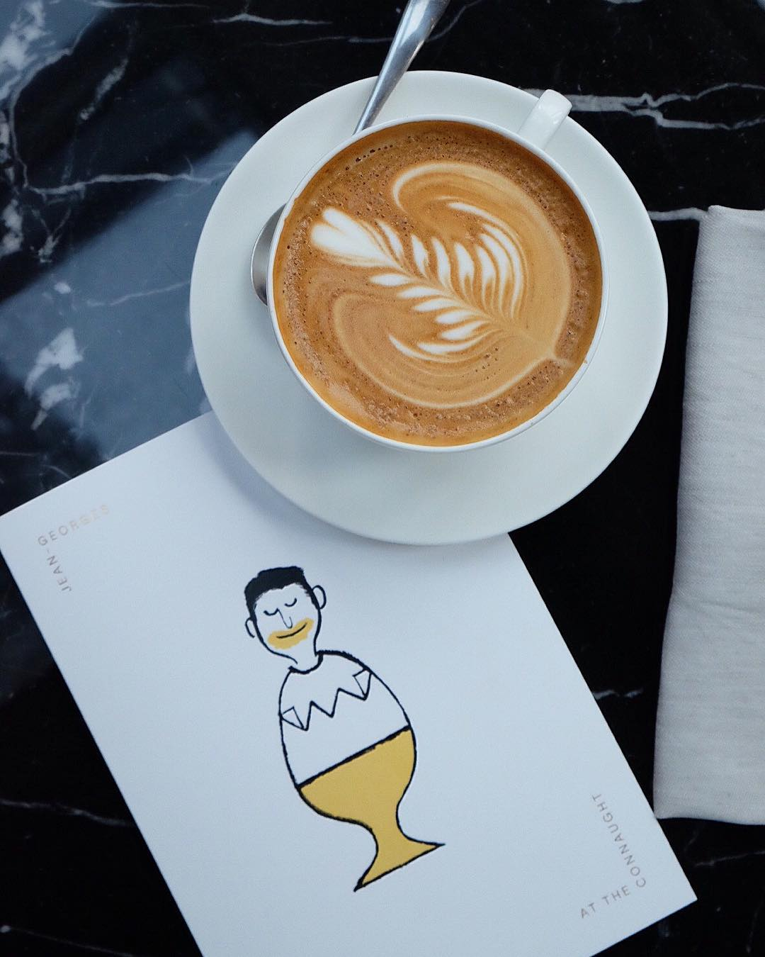 One of Jean Jullien's new illustrations for Jean-Georges at the Connaught