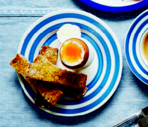 Egg and soldiers, from Breakfast: The Cookbook