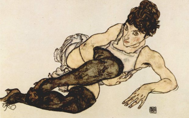 Green Stockings (1914) by Econ Schiele