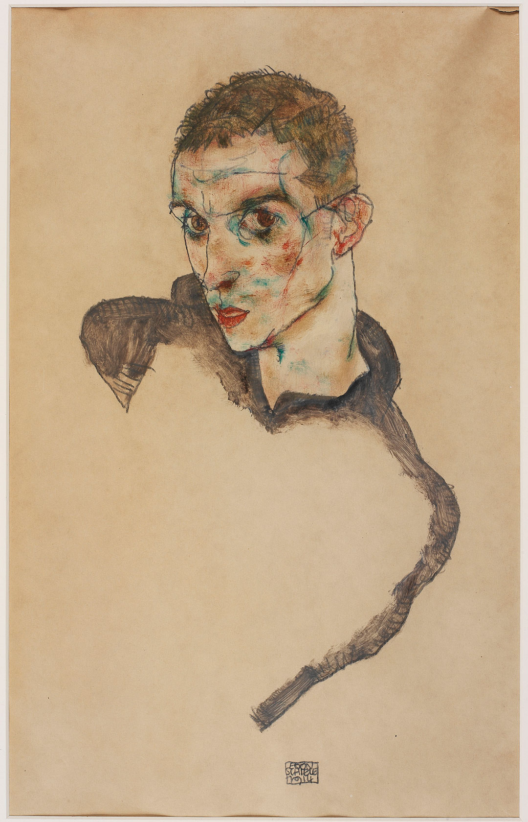 Self-Portrait (1914) by Egon Schiele. All images courtesy of the Tate