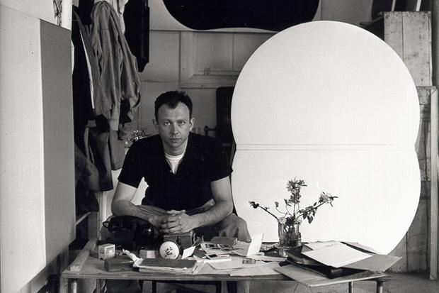 Kelly in his Broad Street studio in New York, 1956. Copyright Ellsworth Kelly