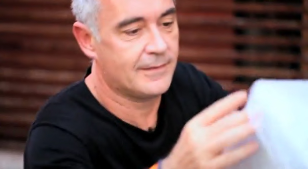 Ferran Adrià unwraps his advance copy of elBulli 2005-2011 in our video