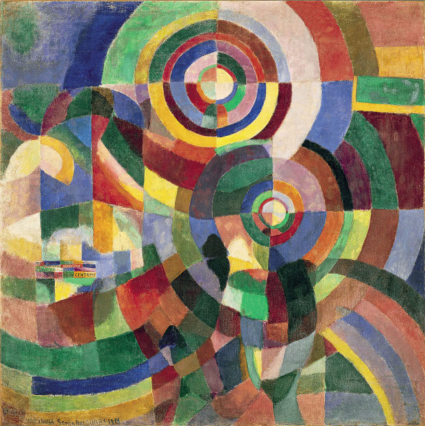 Electric Prisms (1914) by Sonia Delaunay. Musée National d'Art Moderne, Paris
