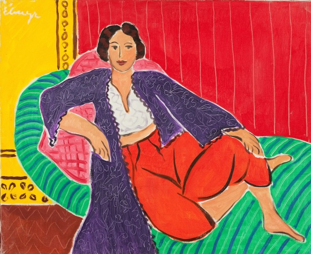 Elmyr de Hory's Odalisque in the style of Henri Matisse. 1974