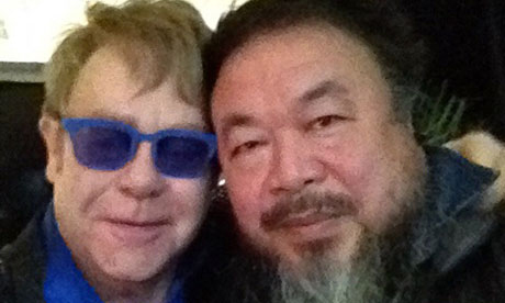 Elton John and Ai Weiwei