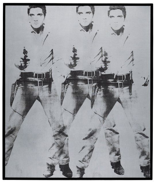 Triple Elvis (1963) by Andy Warhol. The Andy Warhol Foundation for the Visual Arts, Inc./Artists Rights Society (ARS), New York