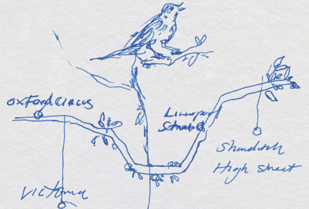 Tracey Emin's tube map