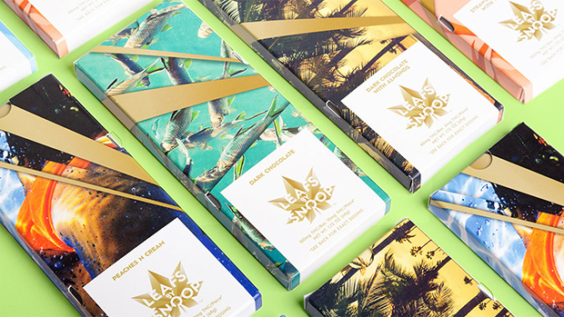 Pentagram's chocolate bar designs for Leafs by Snoop. Image courtesy of Pentagram