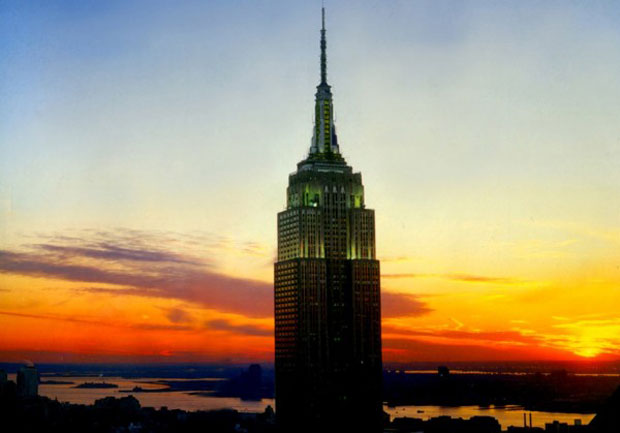 The greening of the Empire State building