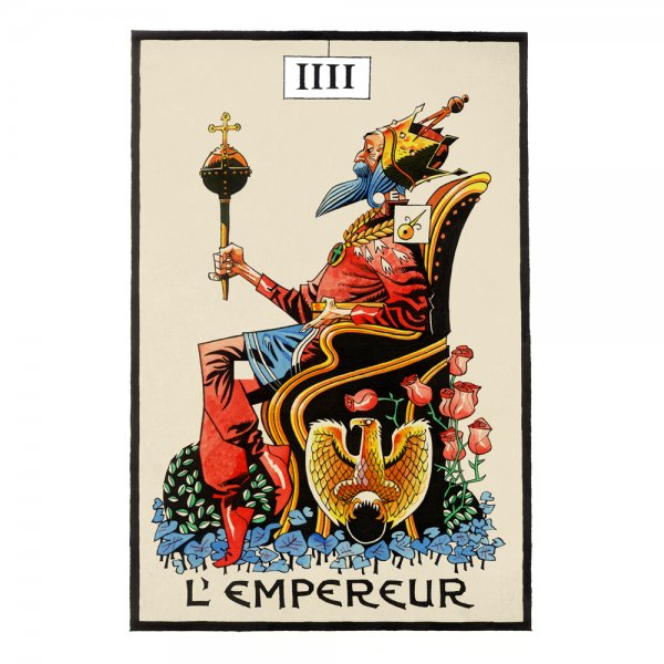 One of Jamie Hewlett's new tarot images. From The Suggestionists