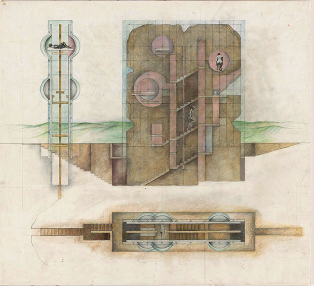 The House without Rooms Project (1974) by Raimund Abraham
