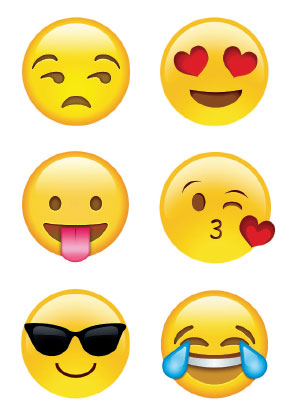 Emojis, as reproduced in California: Designing Freedom