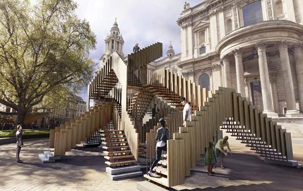 mc escher inspires st paul s installation design