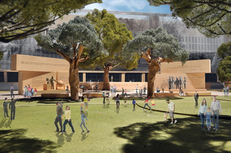 Frank Gehry's  Eisenhower Memorial