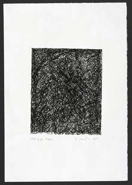 BRICE MARDEN Etching for Obama, 2008