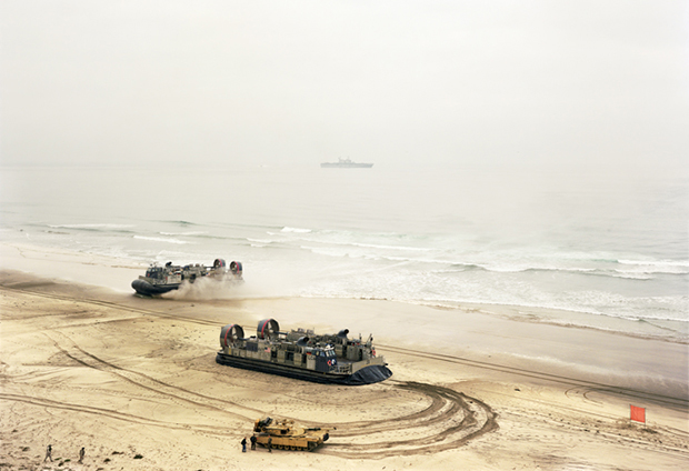 Offload, LCACs and Tank, California, 2006 by An-My Lê. From Events Ashore