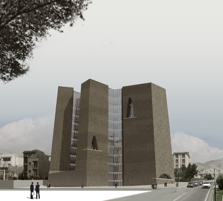 Alejandro Aravena's plans for the new Tehran stock exchange