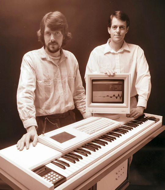 Fairlight CMI series III. Peter Vogel and Kim Ryrie. Image courtesy of Peter Vogel