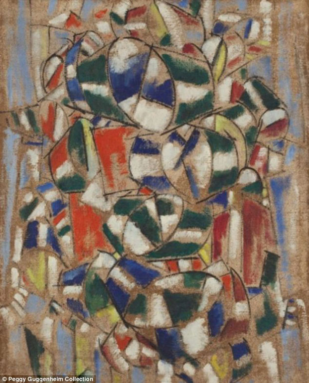 (not from) Fernand Léger's Contraste de forms series, started in 1913 - painter unknown