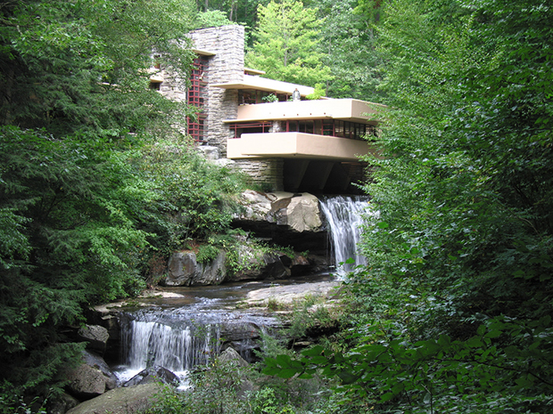 Fallingwater by Frank Lloyd Wright. Photograph by Pablo Sanchez