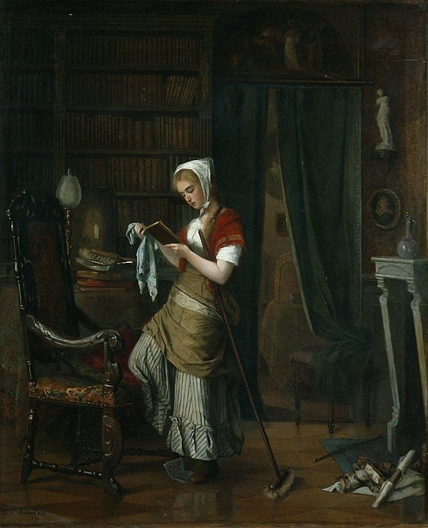 Farmhouse Interior (1875) by  Johanne Mathilde Dietrichson