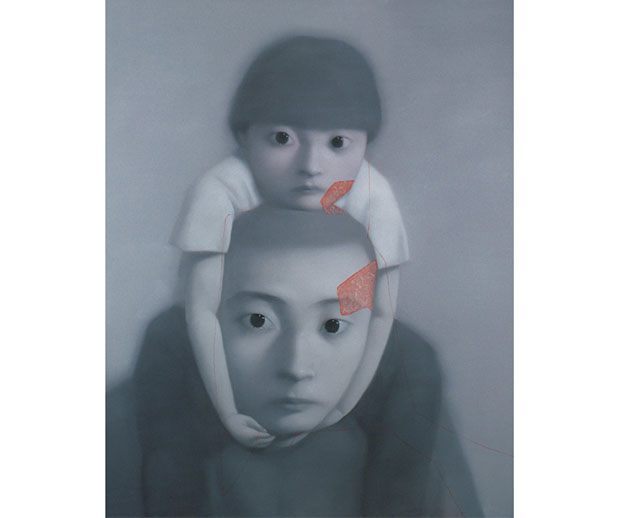 Father and Daughter series (2000) - Zhang Xiaogang