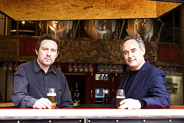 Ferran and his brother Albert (left) at their Tickets tapas bar in Barcelona