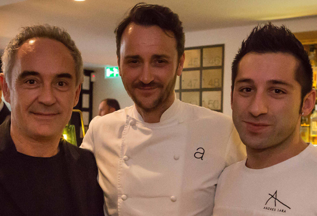 Ferran Adria, Jason Atherton and Andres Lara (like Jason, an ex-elBulli stager)