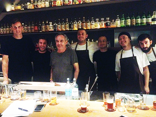 Ferran with the Ronin staff, last night