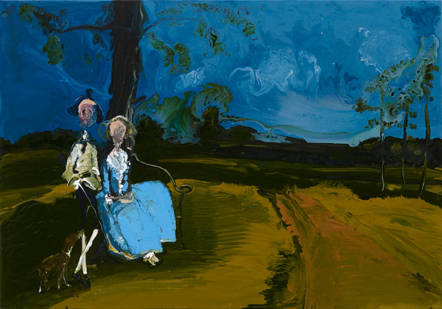 Genieve Figgis Mr & Mrs Andrews after Gainsborough, 2015 Courtesy of the Artist and Almine Rech Gallery Photo: Prudence Cuming Associates Ltd