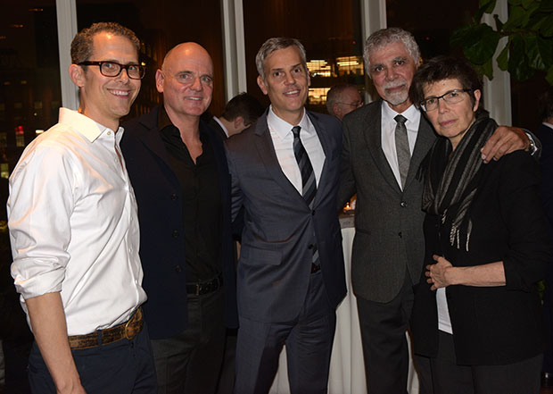 From left: Robert Hammond, James Corner, Phaidon's Keith Fox, Ricardo Scofidio, Liz Diller