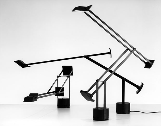 The Tizio lamp by Richard Sapper. Desk clutter not pictured
