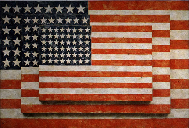Three Flags (1958) by Jasper Johns