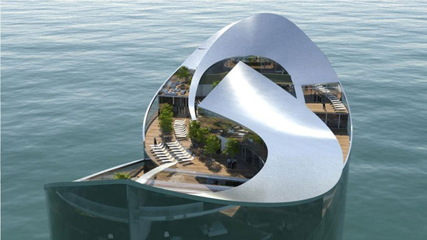 Floating hotel - Sigge Architects