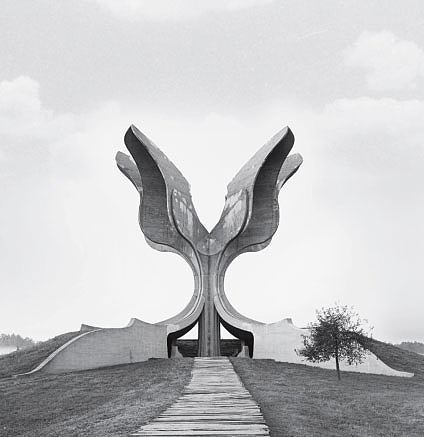 Flower Monument, Jasenovac Memorial Site, Croatia, 1966, by Bogdan Bogdanovic