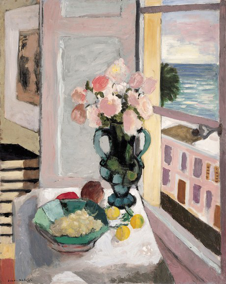 Safrano Roses at the Window (1925) by Henri Matisse
