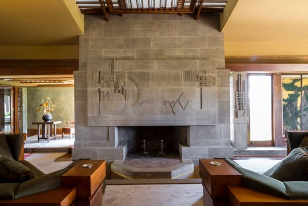 Frank Lloyd Wright's Hollyhock House. Photo by Joshua White