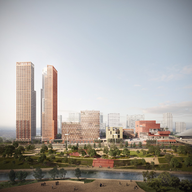 New images released for Stratford Waterfront. Renderings by Forbes Massie