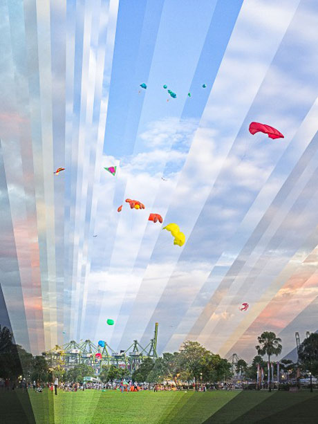 Kite Flying At West Coast Sunset 2013 - Fong Qi Wei
