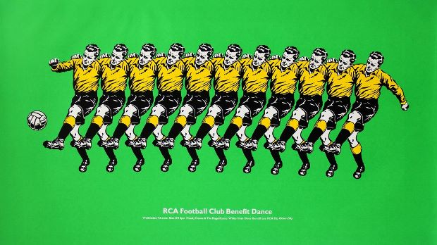 RCA Football Club poster, 1971, by Ray Gregory