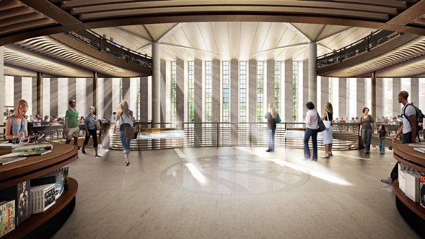 Foster + Partners' plans for The New York Public Library