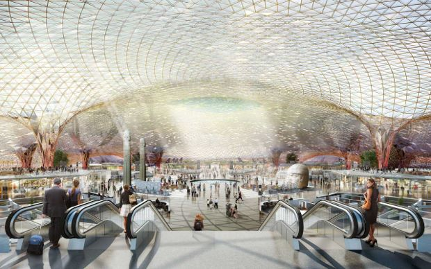 Mexico International Airport by Foster + Partners and  Fernando Romero Enterprise