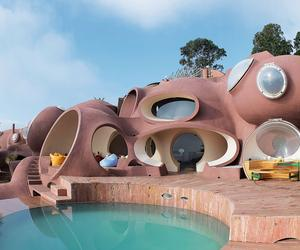 The building of Pierre Cardin's curvy Bubble Palace