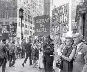 When Philip Johnson joined the protest marchers